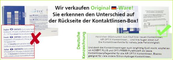 Original Kontaktlinsen aus der EU