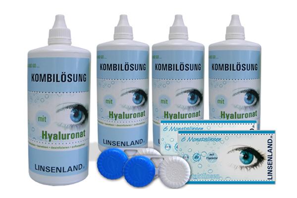 Linsenland Kontaktlinsen & Kombilösung mit Hyaluronat