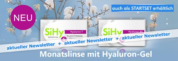 Newsletter Januar 2017 Teste unsere neuen Monatslinsen SiHy Hyaluron