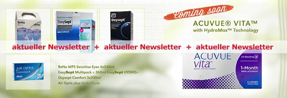 Die neuen Kontaktlinsen und Pflegemittel im Juli bei Linsenland