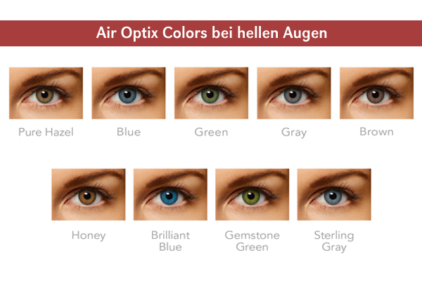 Air Optix Colors - helle Augen