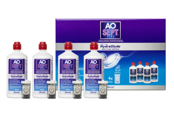 Alcon AOSept Plus HydraGlyde 4x 360 ml Vorratspack Peroxid