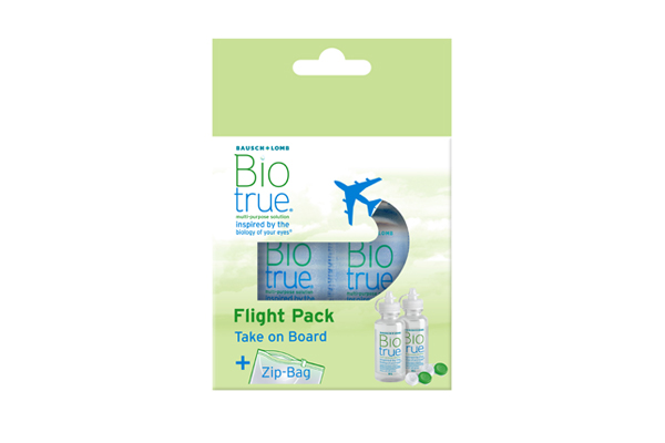 Biotrue all-in-one flight pack