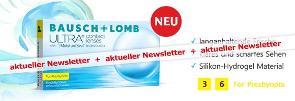 neue multifokale Monatslinsen ULTRA for Presbyopia von Bausch & Lomb