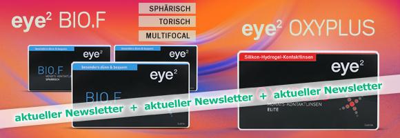 Die neuen sphärische, torischen und multifokale eye² Kontaktlinsen