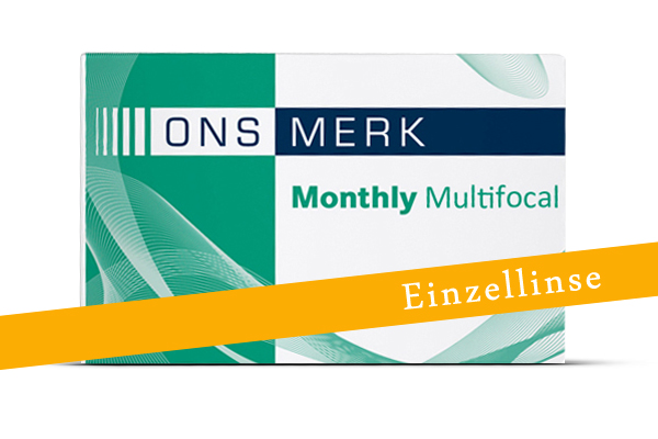 Ons Merk Monthly Multifocal Einzellinse